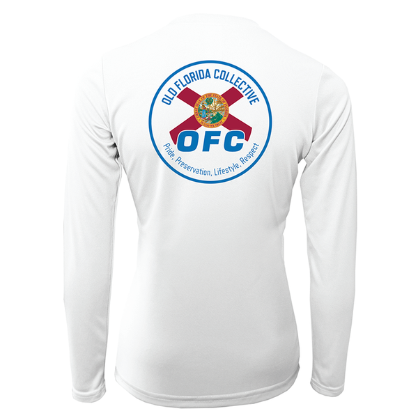 Women's Performance Long Sleeve FLA Flag Logo