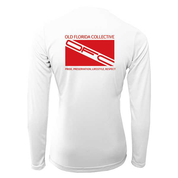 Women's Performance Long Sleeve With Dive Flag Logo