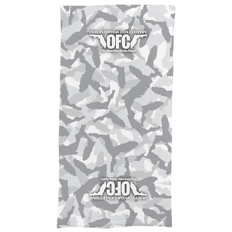 Gray and White State of FLA Camo Buff