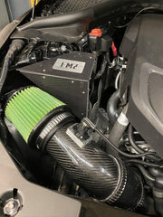 Close-up of FMZ Cold Air Intake installed in 2020 Toyota Supra MKV (A90)