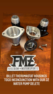 FMZ Remote -20 2JZ Supra Billet Thermostat Housing - Freedom Motorsportz