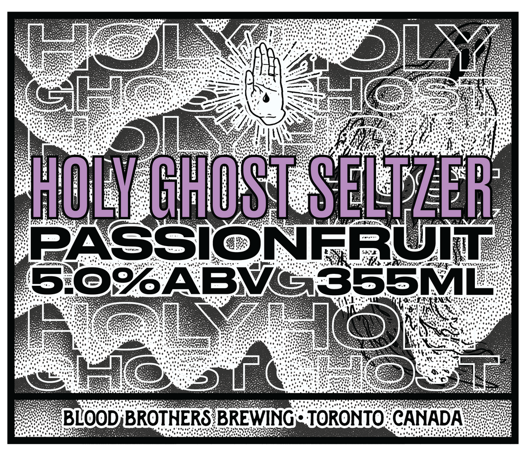 HOLY GHOST SELTZER - PASSIONFRUIT • 355 ML CAN