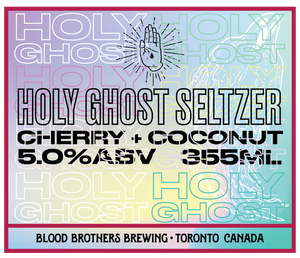 HOLY GHOST SELTZER - CHERRY COCONUT • 355 ML CAN