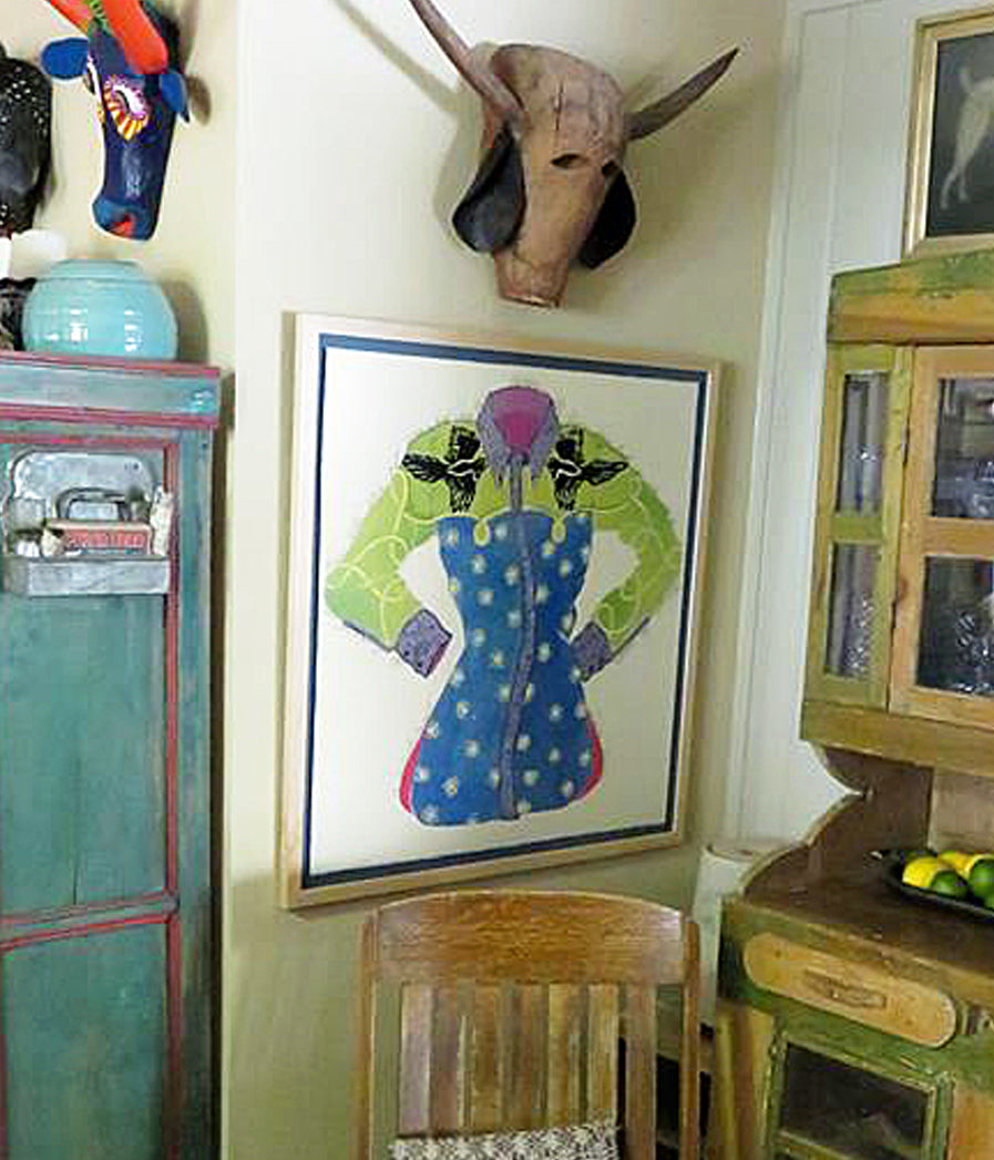 Midnight Cowgirl in dining room