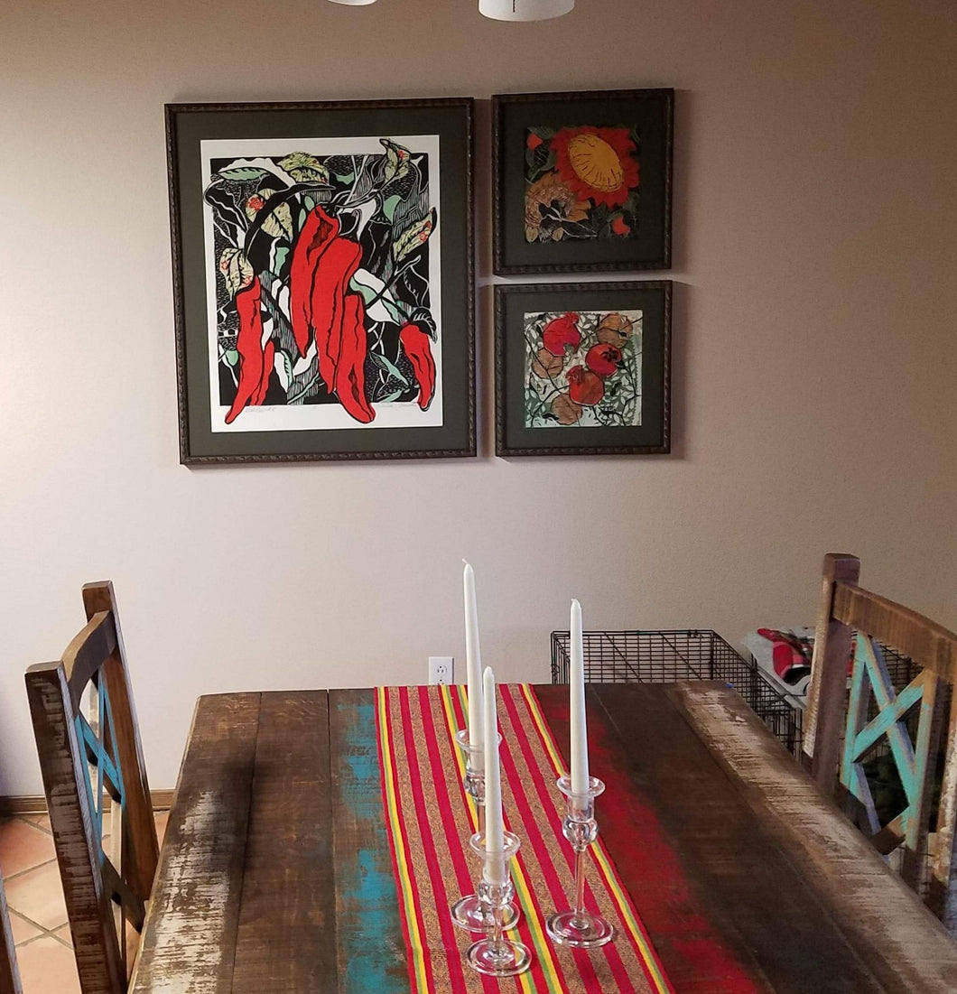 Assorted prints in Dining Room