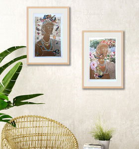 in situ view of both Fridas in frames, for sale by Ouida Touchon