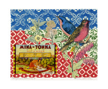 Load image into Gallery viewer, California Dreaming 5, vintage collage on paper with songbirds for sale by Ouida Touchon