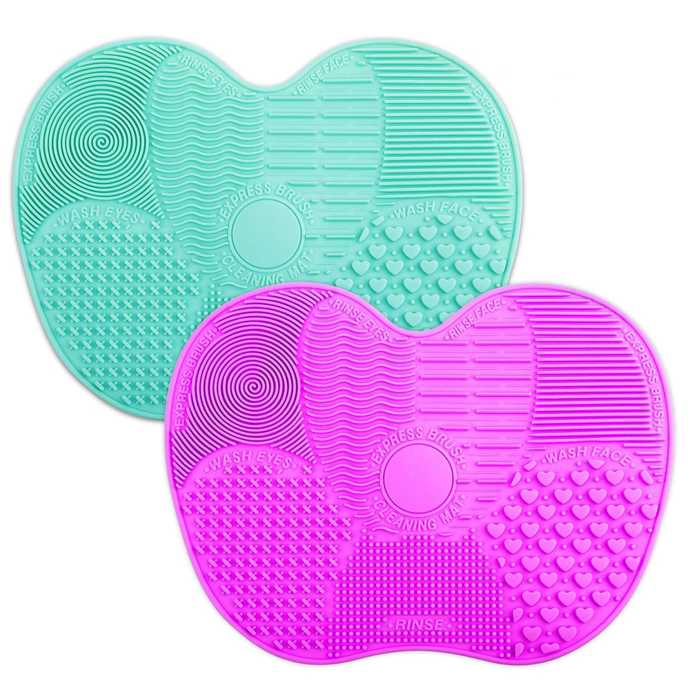 Makeup Brush Cleaner Mat-  Teal or Purple