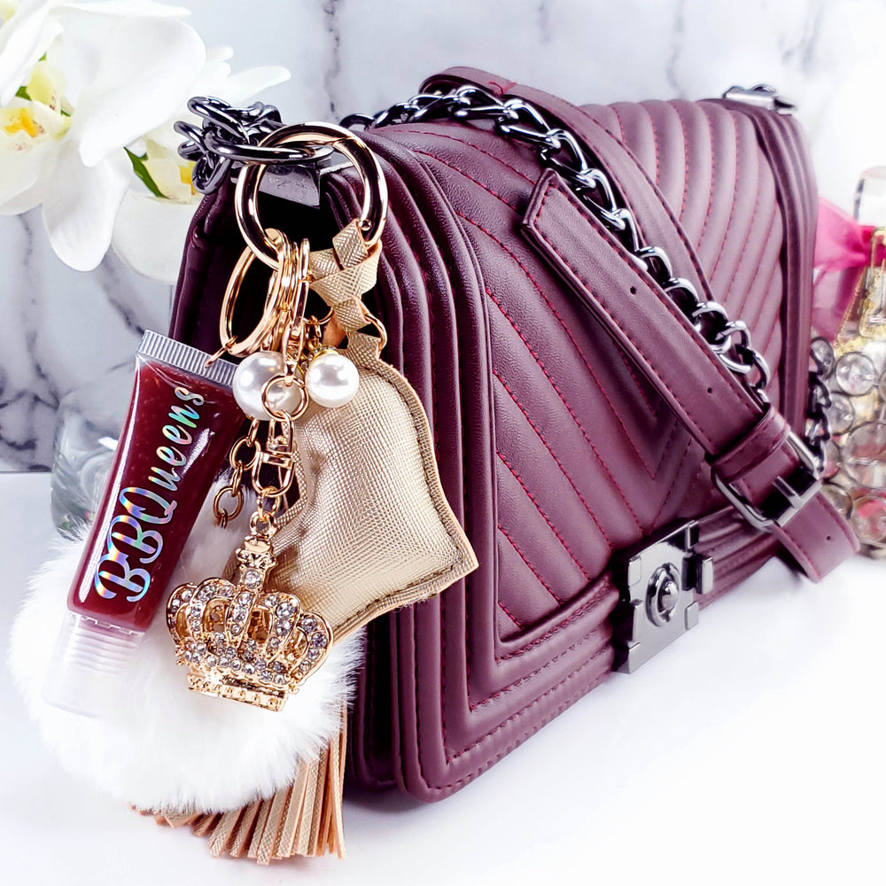 Load image into Gallery viewer, Sugar Plum Lip Gloss - 05 & Keychains