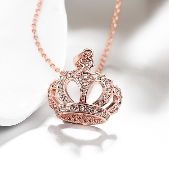 Crown Gold Pendant Necklace