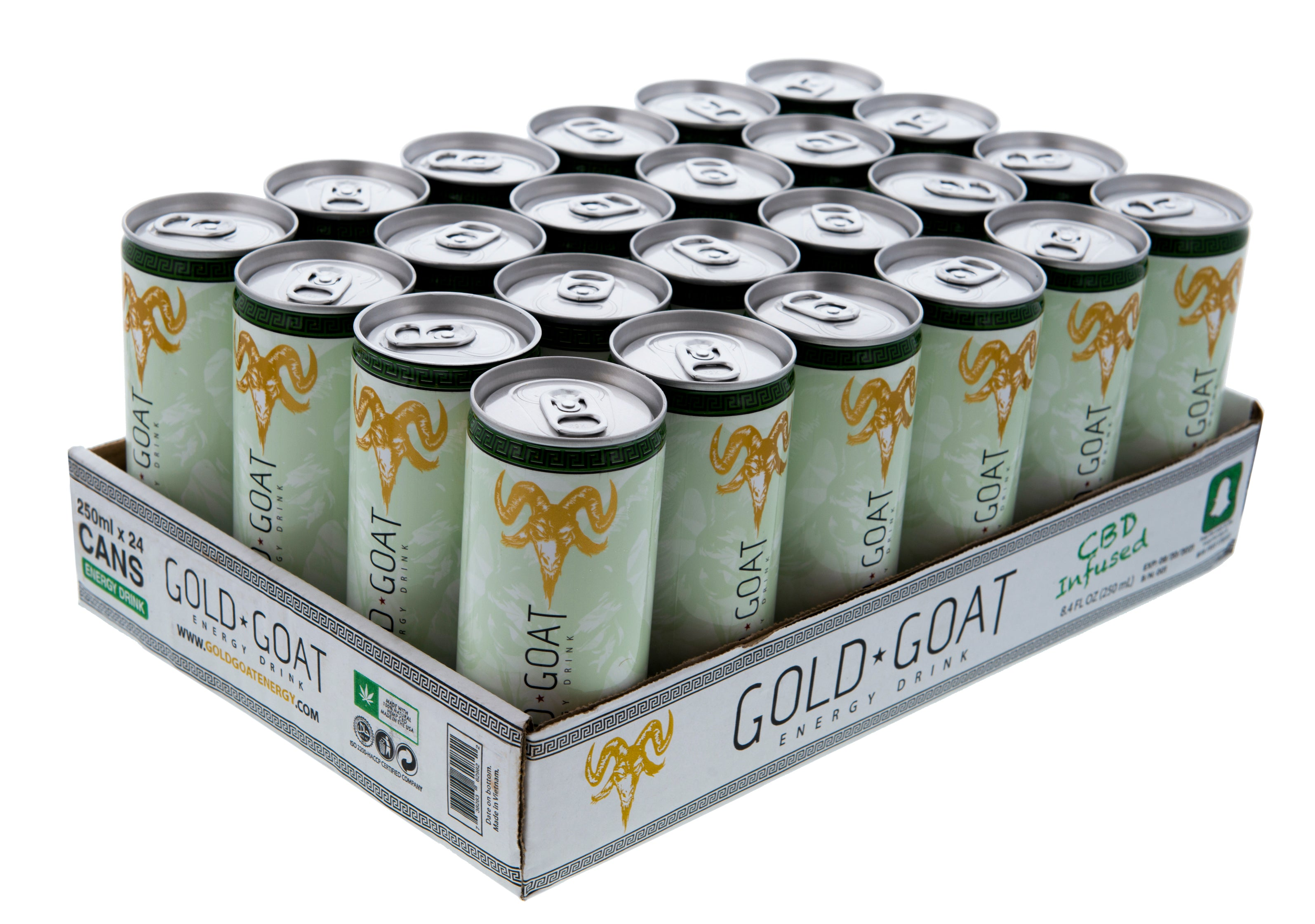 Gold Goat Energy CBD Energy Drink Case