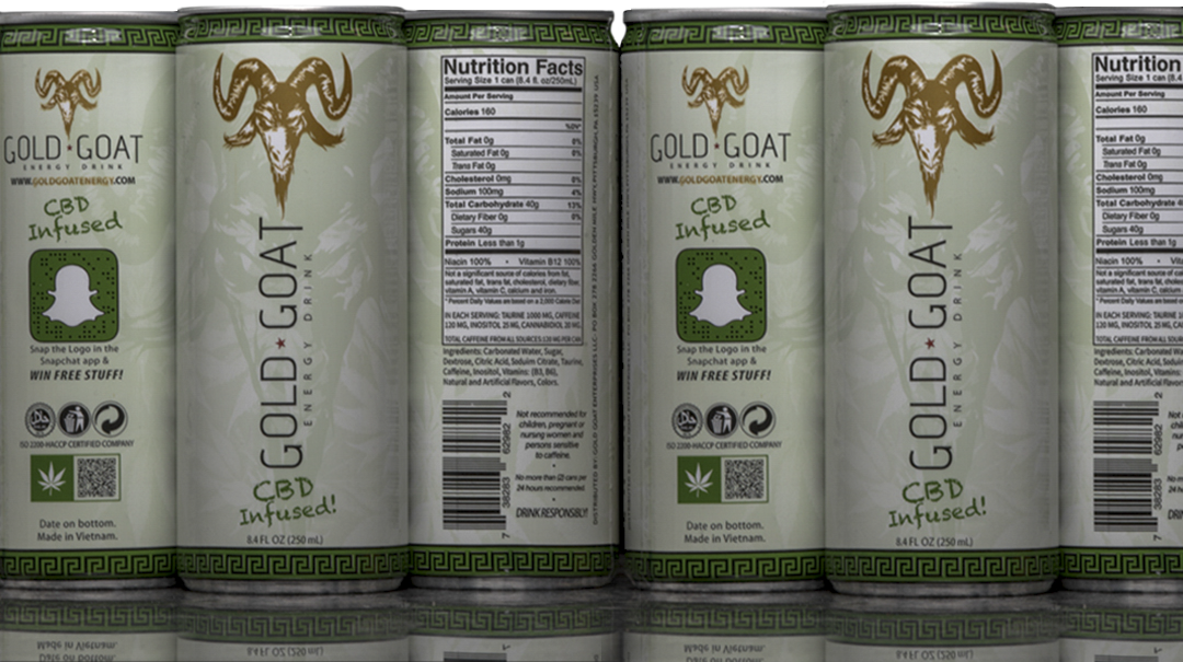 Gold Goat Energy CBD Infused Energy Drink 6PK Cans