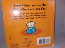 Load image into Gallery viewer, No No Yes Yes (Leslie Patricelli board books) by Leslie Patricelli