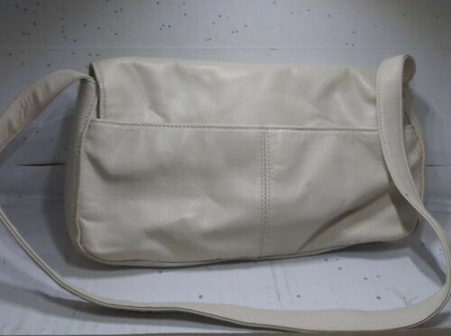 Vintage PRESTON & YORK Faux Leather White Handbag Purse