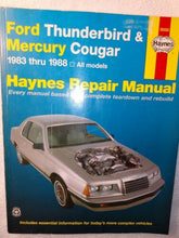 Muat gambar ke penampil Galeri, Haynes Repair Manual 36082 - Ford Thunderbird & Mercury Cougar 1983 Thru 1988