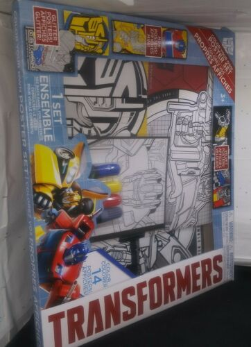 Transformers Color Your Own Poster Set Activity NEW