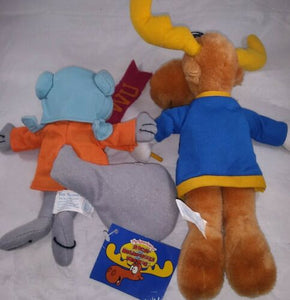Toy Network Stuffed Plush Animal Toy Rocky and Bullwinkle WU Happy Halloween