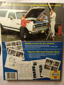 Dodge Pick-Ups 1974 thru 1993 Haynes Automotive Repair Manual #30040 (912)