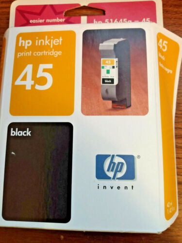 Genuine hp 45 51645A Black Expired Ink Cartridge