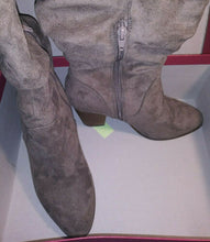 Load image into Gallery viewer, Merona Knee High Woman's Boots Suede Gray NIBSize 8