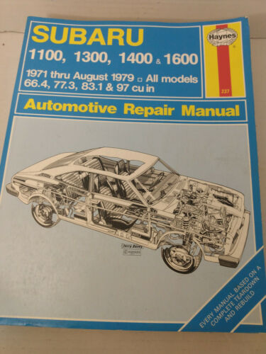 Subaru 1100 1300 1400 1600 1971-1979 Haynes Repair Manual 237