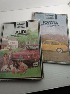 lot of 2 VINTAGE CLYMER auto repair handbooks Toyota 1968-72 Audi 1970-77
