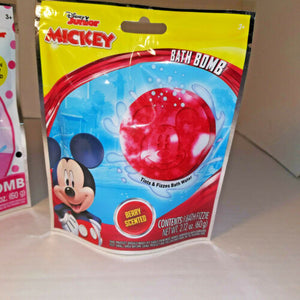 2 Disney Junior Mickey Minnie Mouse Scented Kids Bath Bomb New Nontoxic