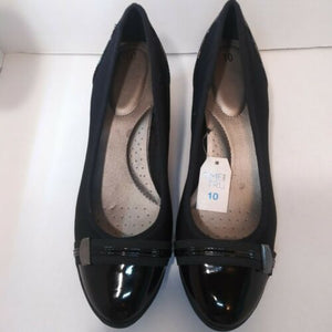 Time and Tru Women's Ladies Black Wedge Pumps Heels Shoes Size 10