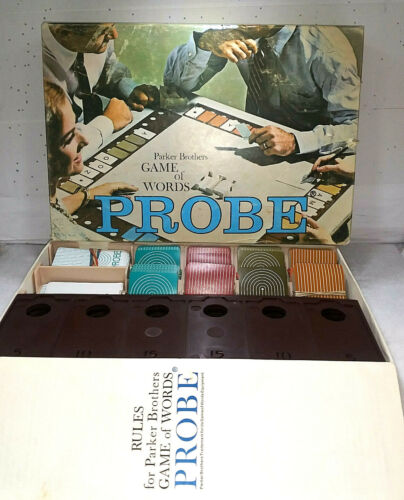 Parker Bros Game of Words PROBE 1964 Board Game Complete ALL PARTS/PIECES