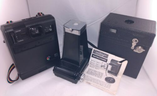 Vintage Kodak Camera Lot Cinelarger w manual + Colorfast + Hawkeye B