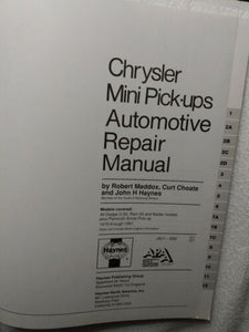 Haynes Manuals: Dodge Ram 50/D-50 Pickups and Raider, 1979-1991by John...