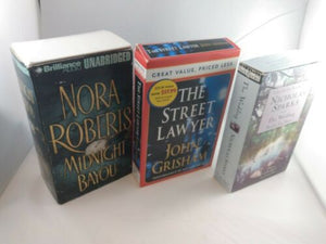 LOT OF 3 Audio Books On CASSETTE John Grisham Nicholas Sparks Nora Roberts