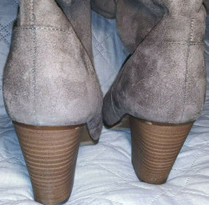 Merona Knee High Woman's Boots Suede Gray NIBSize 8
