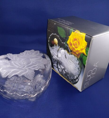 Winter Rose Crystal Heart Box Studio Nova Mikasa Etched Relief 6