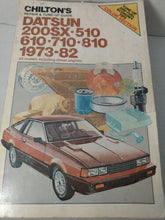 Load image into Gallery viewer, CHILTON CLYMER Lot of 4 DATSUN Automotive Service Repair Manuals