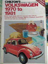 Load image into Gallery viewer, Volkswagen Beetle Repair Shop Manual - Lot of 3 - Chiltons Haynes Clymer