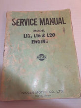 Load image into Gallery viewer, NISSAN SERVICE MANUAL Model L13 L16 L20 Engine 1970s Datsun 510