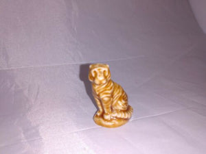 Vintage Miniature Exotic Animal Glazed Ceramic Figurine Lot Zebra Tiger Kangaroo