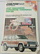 Load image into Gallery viewer, Vintage Jeep Wagoneer Comanche Cherokee 1984-89 Chilton 7939 Repair Manual