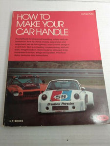 VTG 1976 How To Make Your Car Handle Fred Puhn High Performance Original Book