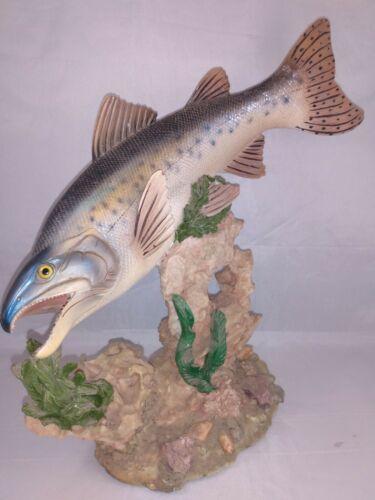 Bull Trout Ceramic Hand Painted Figurine