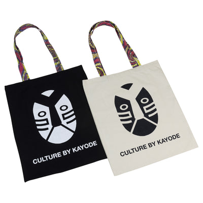 African Ankara Print Pattern Tote Bags by Kayode