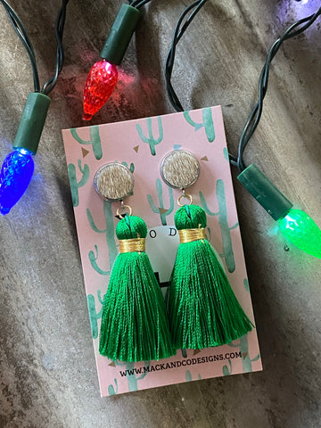 'Arlie' Mini Tassels (Gold Cowhide)