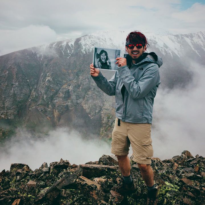 Blake Hunter's first 14er he hiked with his friend Stephanie the weeks following the loss of his mom