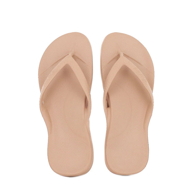 ARCH SUPPORT THONGS - TAN