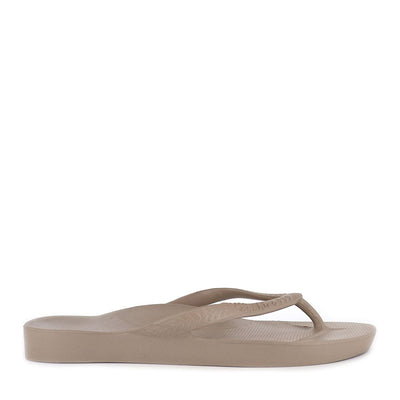 ARCH SUPPORT THONGS - TAUPE