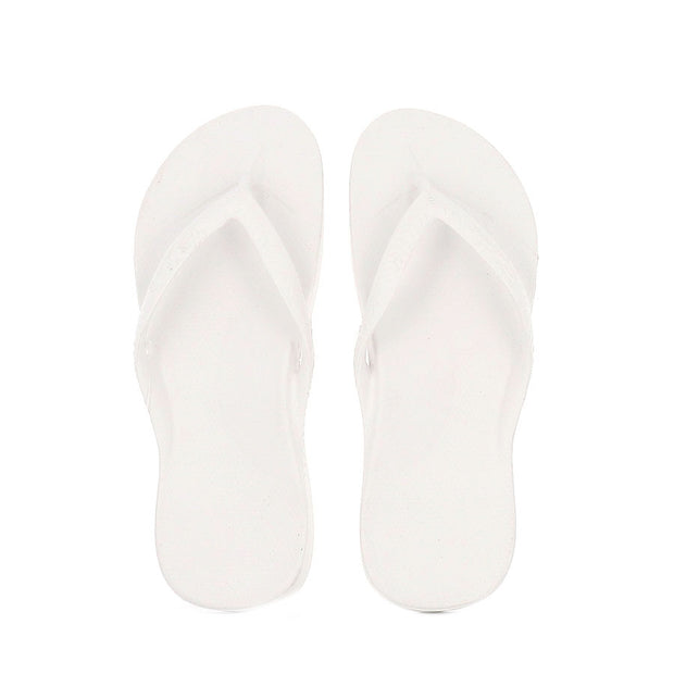 ARCH SUPPORT THONGS - WHITE