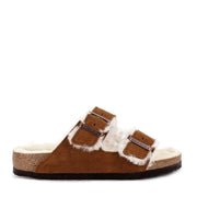 ARIZONA SHEARLING - MINK SUEDE LEATHER