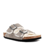 ARIZONA SHEARLING - STONE COIN SUEDE LEATHER