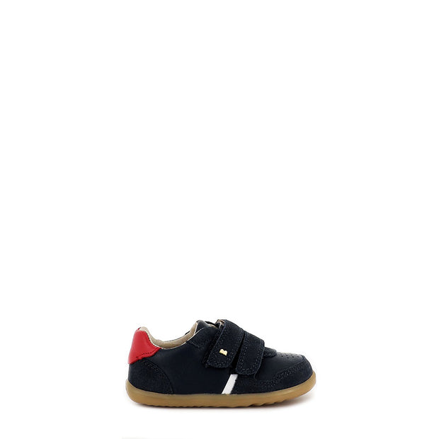 RILEY STEP UP - NAVY/RED LEATHER